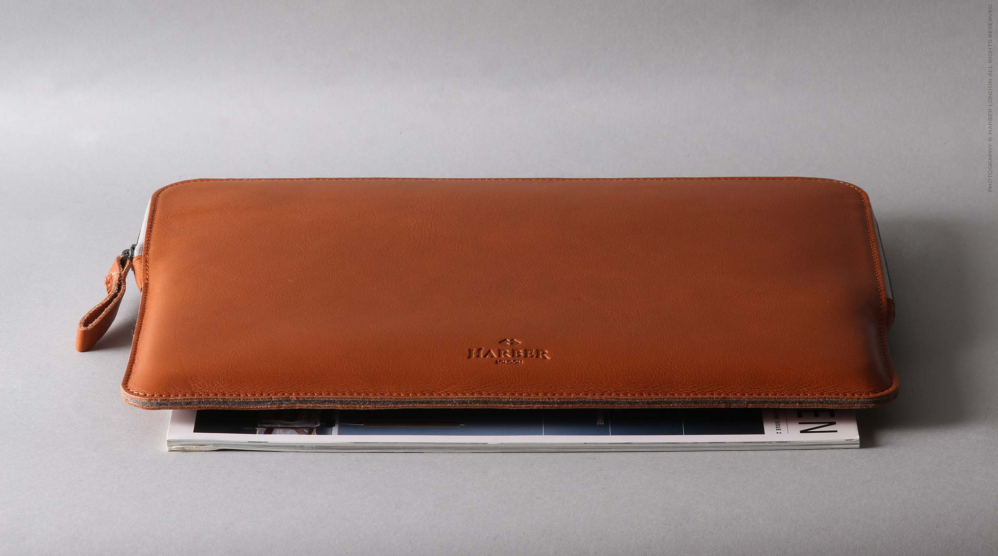 Leather Macbook Case With Anti-Scratch Zipper