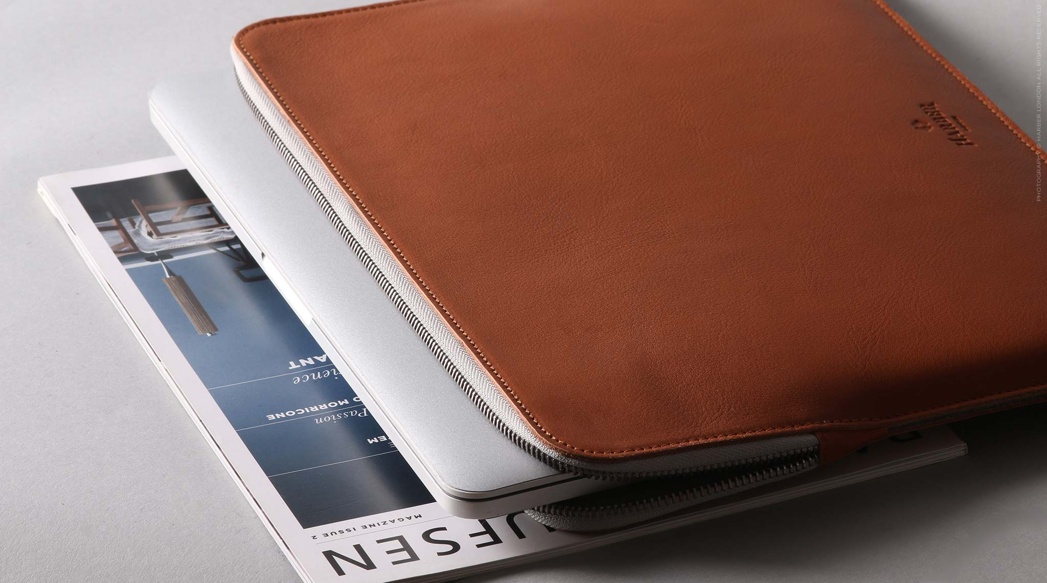 Slim Leather Folio Macbook Case S7