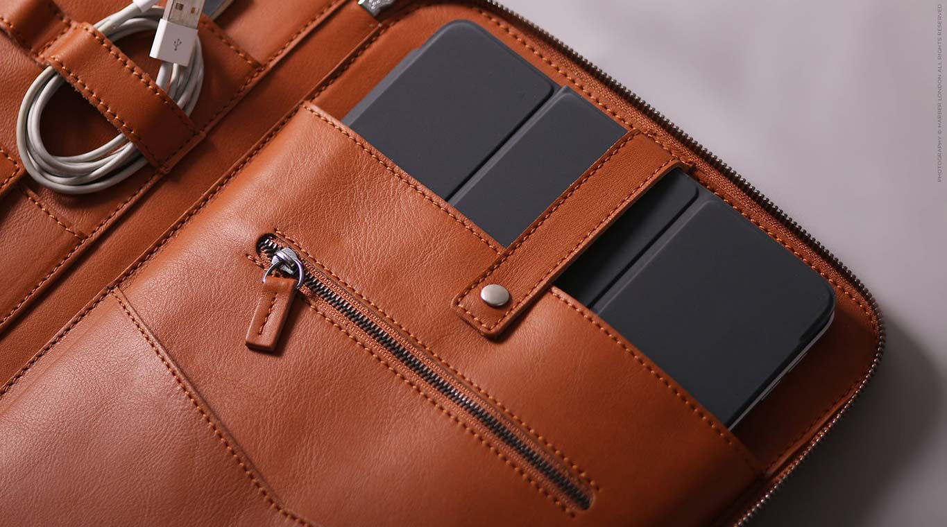 leather ipad organiser