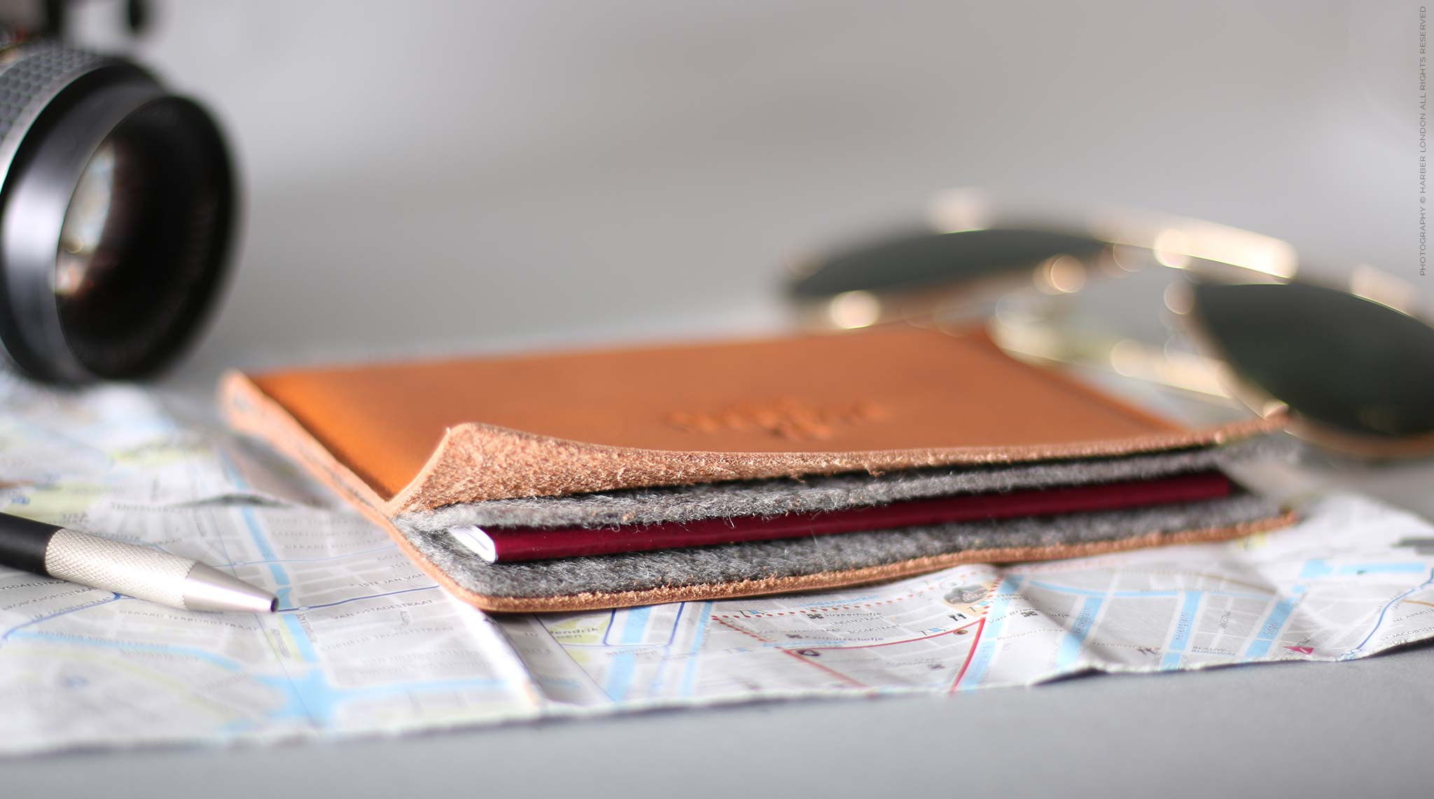 Leather Passport Holder Wallet Case