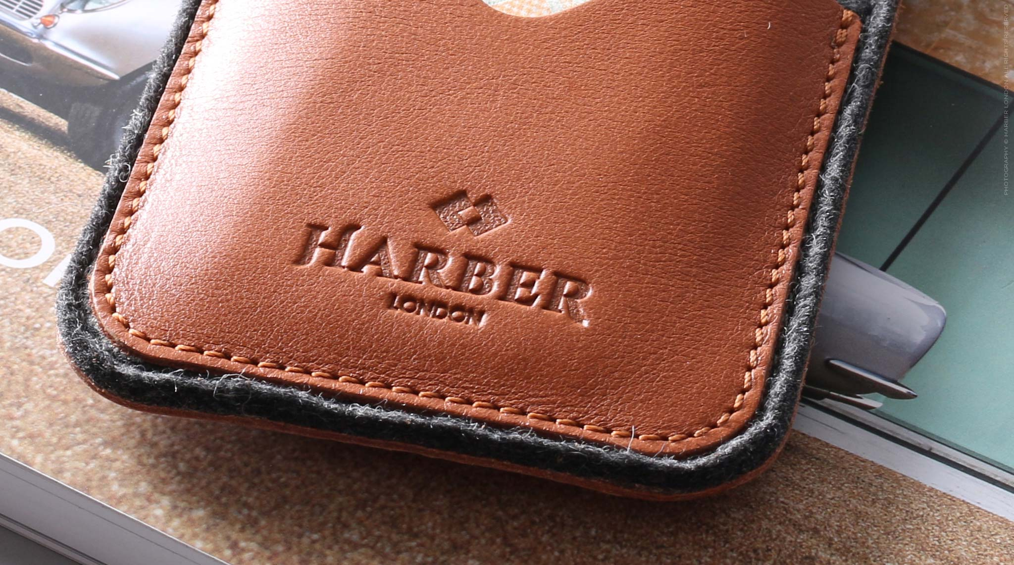 Leather And Wool Felt Phone Sleeve