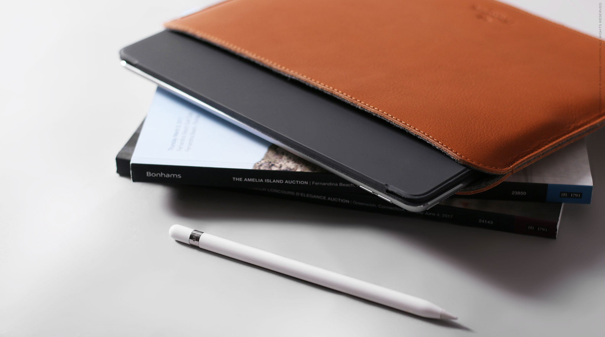 Leather IPad Pro Evo Case With Apple Pencil Holder