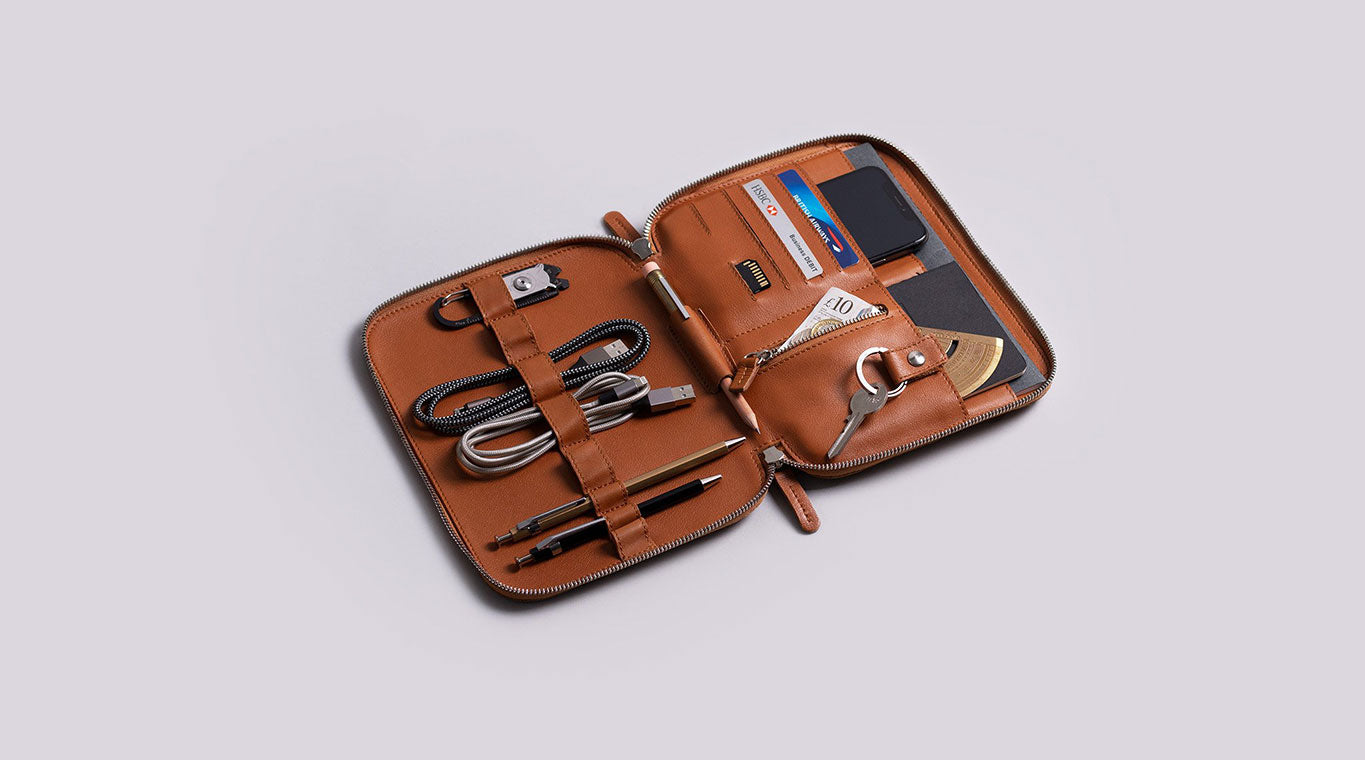 leather nomad organiser