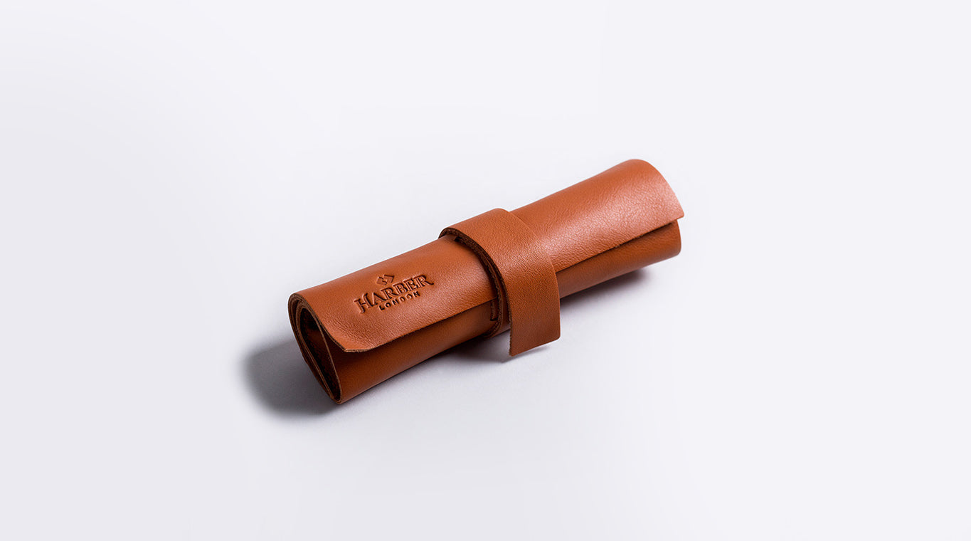 Leather Rollup oraniser