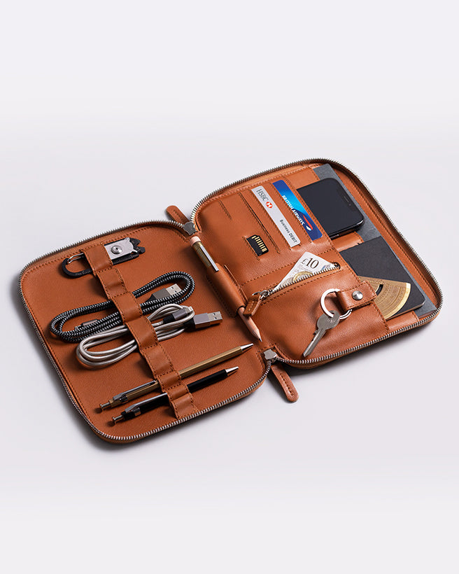 leather organiser for ipad