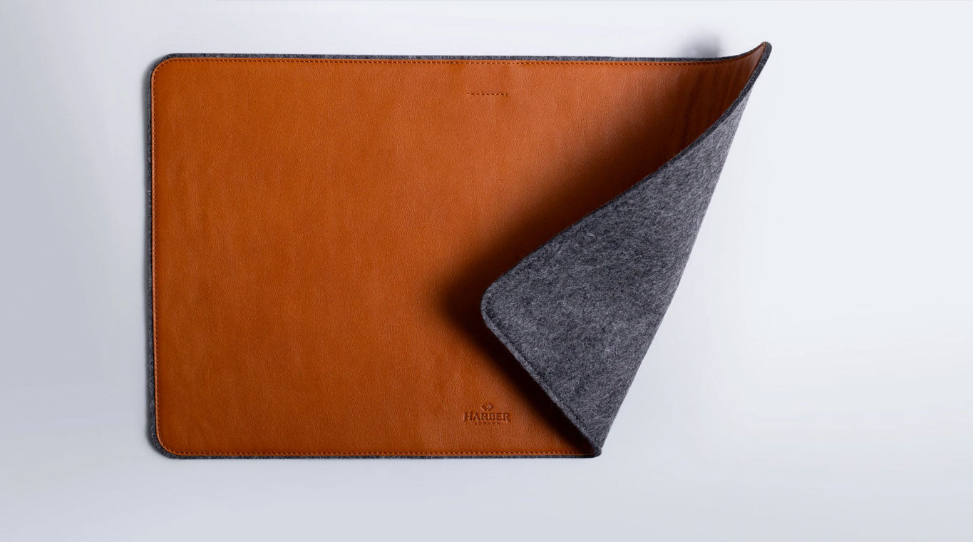 Leather desk pads
