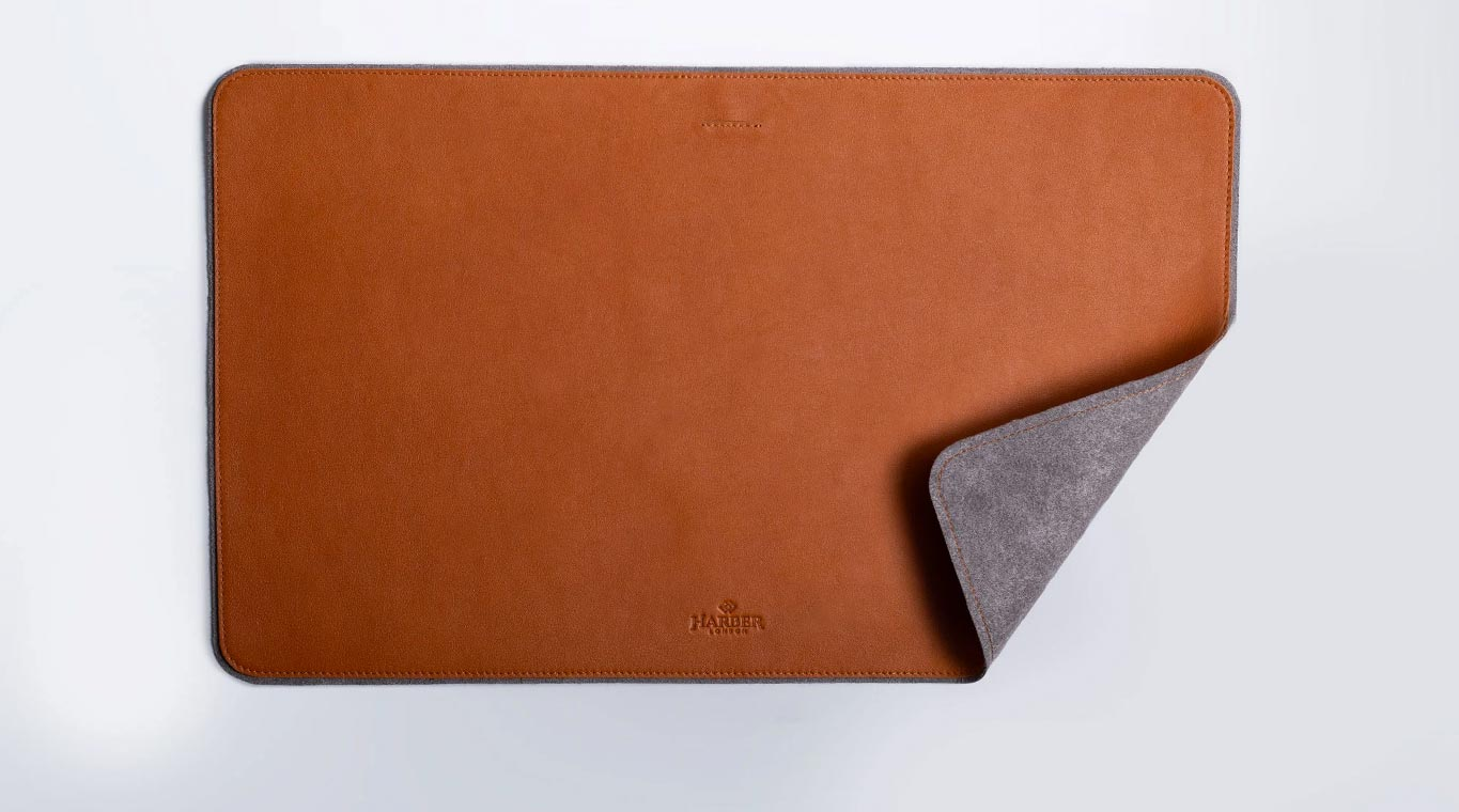 Desk Mat is handmade using rich 100% Full-Grain Leather.