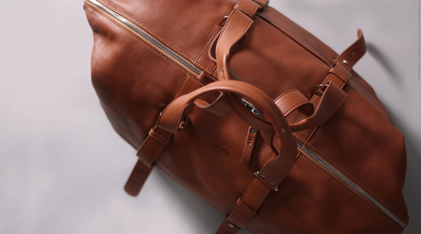 Leather shopper bag for men