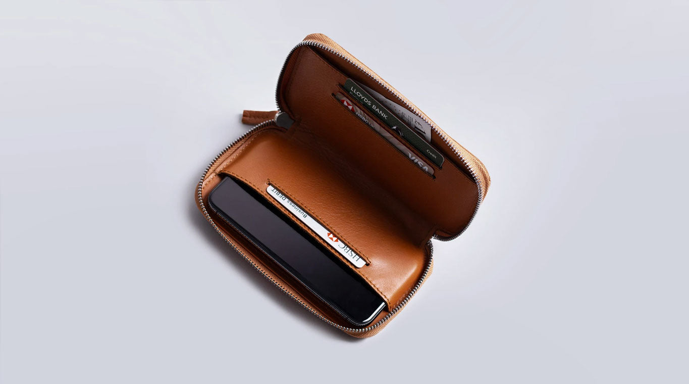 Leather organiser smartphone