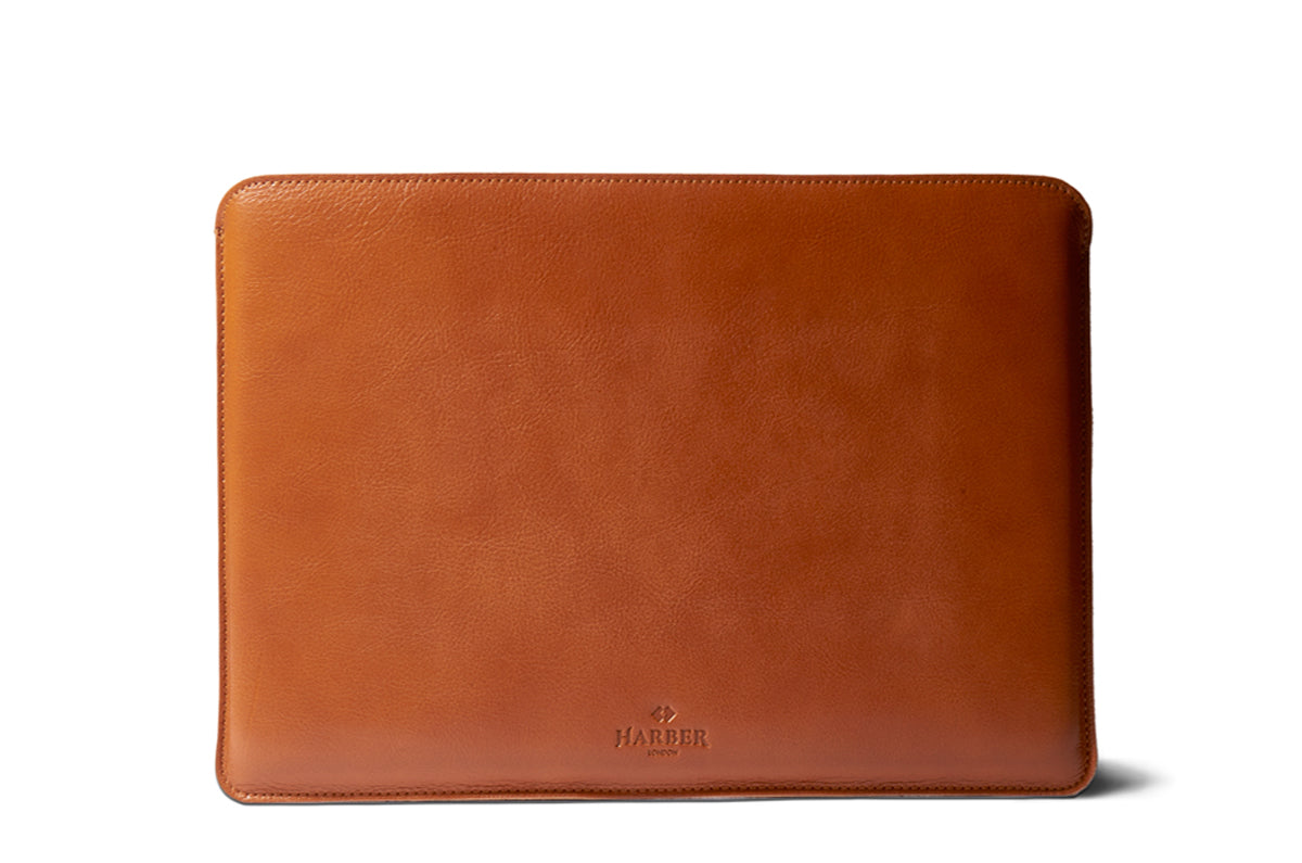 Harber London Slim Leather Macbook Case Sleeve