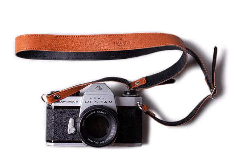 Tan Adjustable Leather Camera Strap
