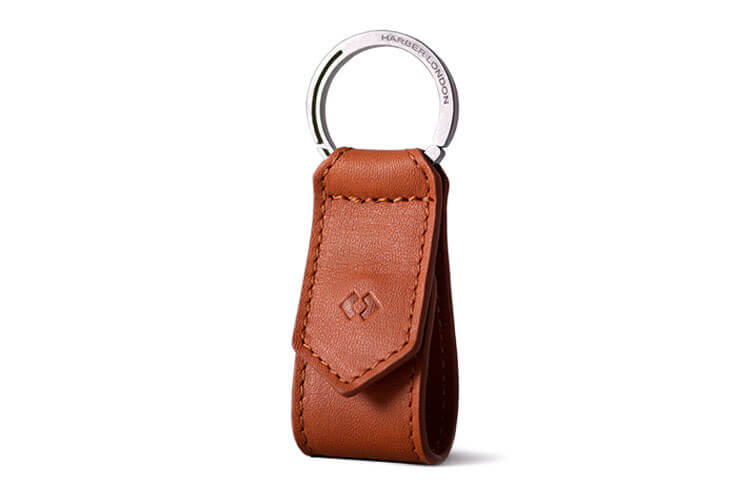Tan Leather Keychain
