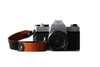 Tan/Black Leather Camera Wrist Strap