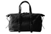 Black Mens Leather Shopping Bag