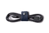 Navy Leather Cable Organiser