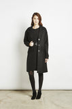 Amya - Oversized Overcoat Black