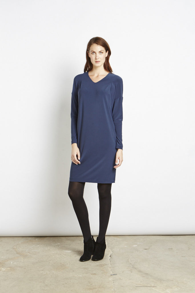 Amy - Dropped Shoulder Dress Midnight