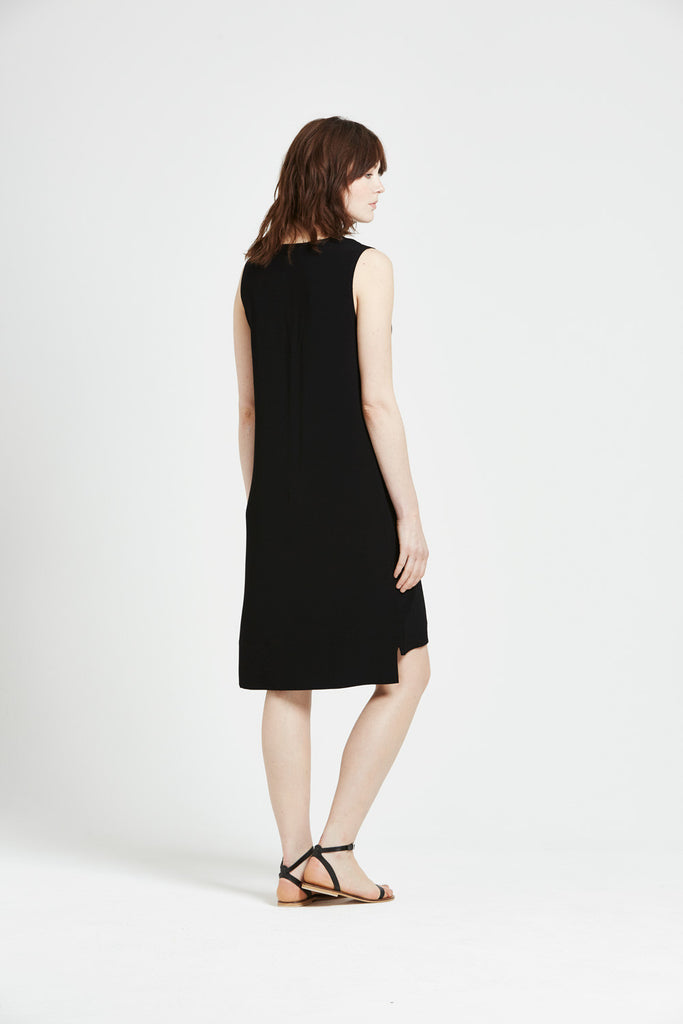Berit - Sleeveless Dress - Black