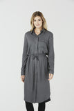 Clemence - Shirt Dress - Grey
