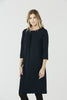 Cerys - Round Neck Dress - Navy