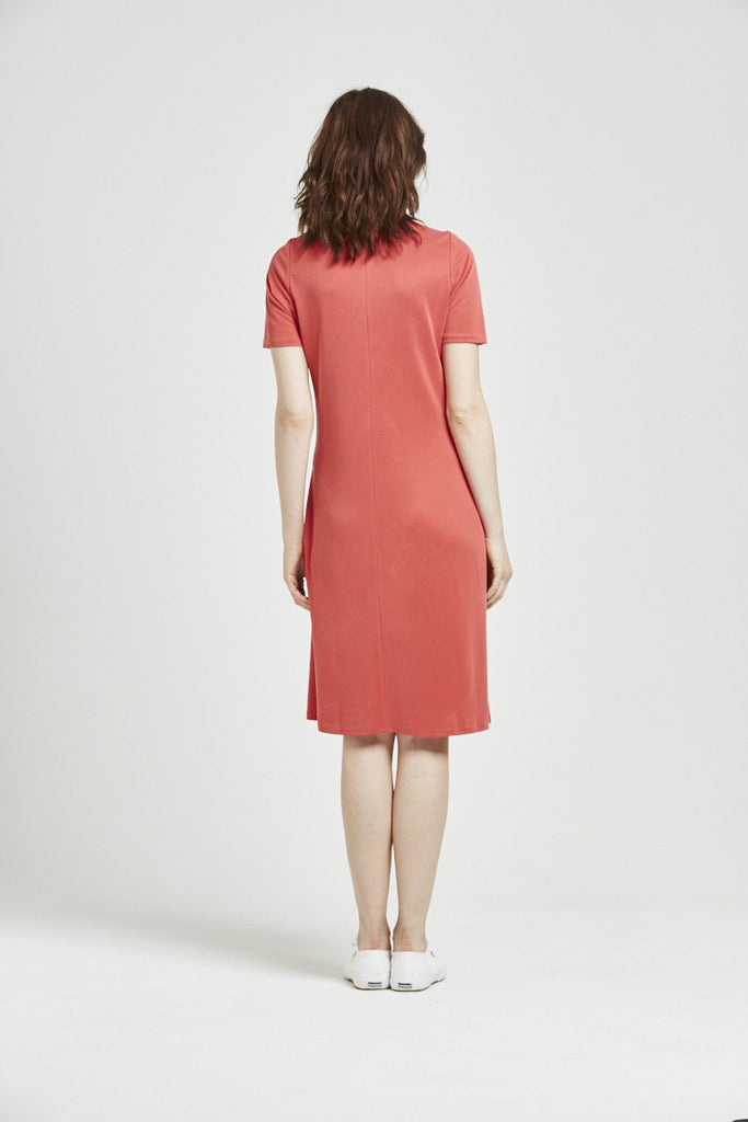 Bliss - Front Tie Dress - Red