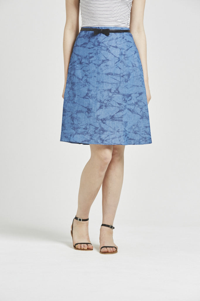 Brea - Skirt - Printed denim
