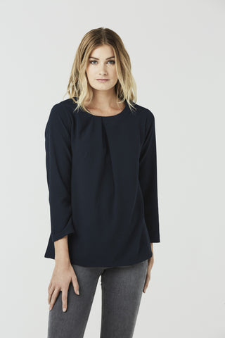 Celeste - Pin Tuck Blouse - Off White