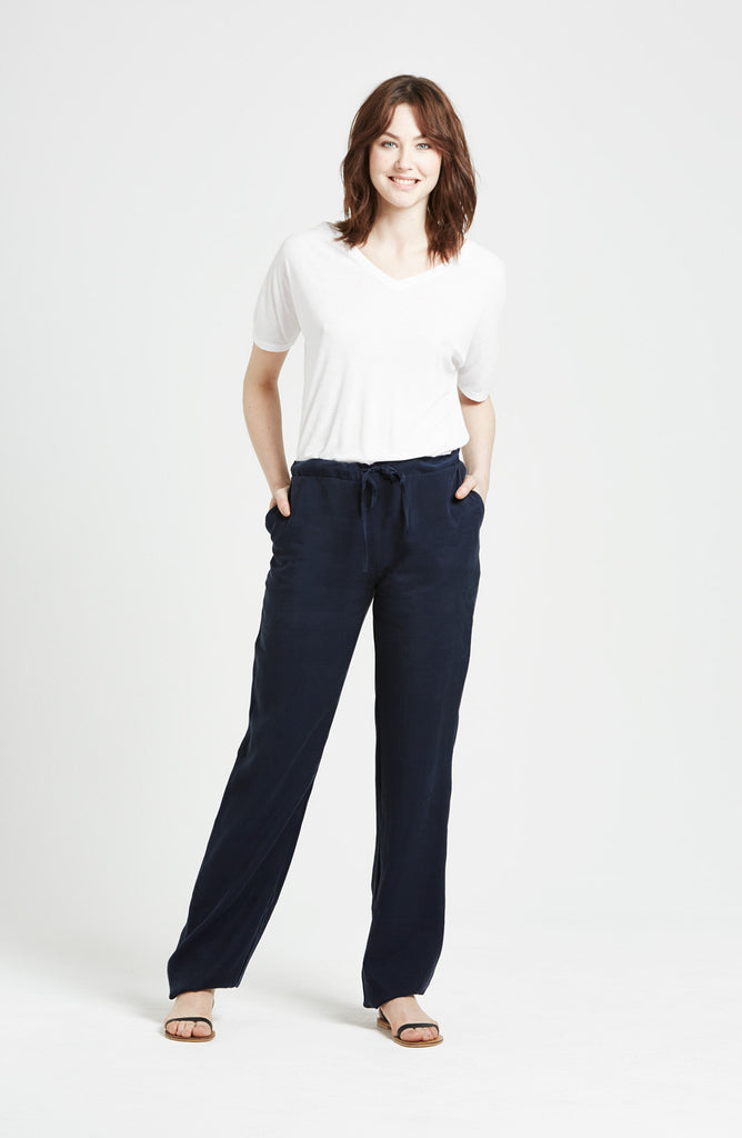 Bee - Loose fitting trousers - Blue