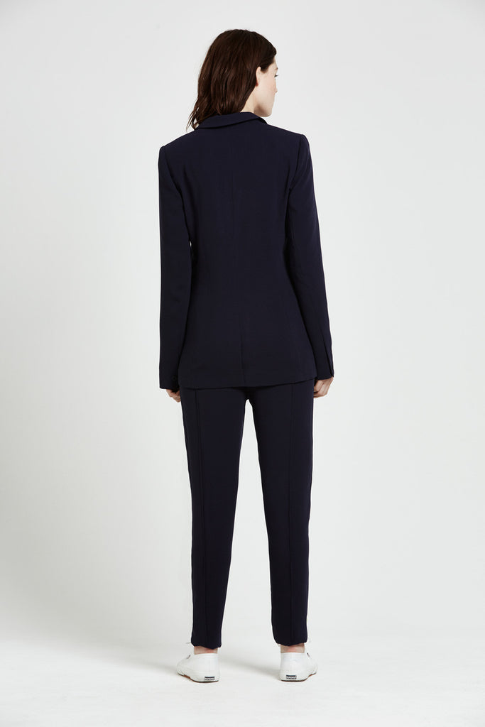 Benita Tailored Jacket - Navy Blue