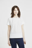 Brier - Short sleeve top - Embroidered white