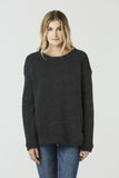 Camille - Jumper - Flecked Black