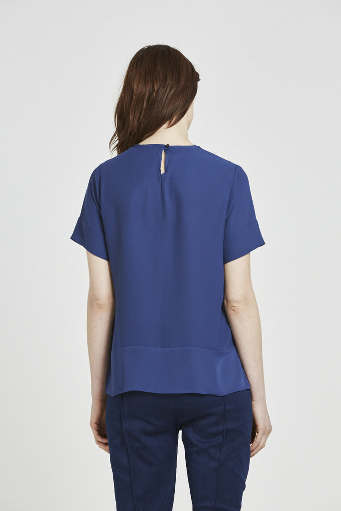 Brier - Short sleeve top - Navy Blue