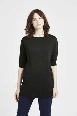 Celeste - Pin Tuck Blouse - Black