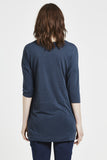 Blythe - Tunic Top - Navy Blue