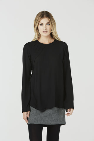 Blythe - Tunic Top - Black