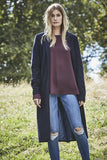 Corrine - Long Coat - Navy