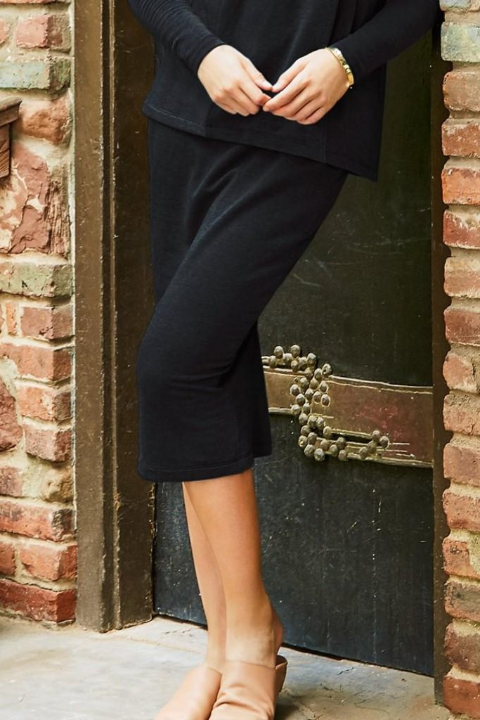 Slim Sweatshirt Skirt - Black