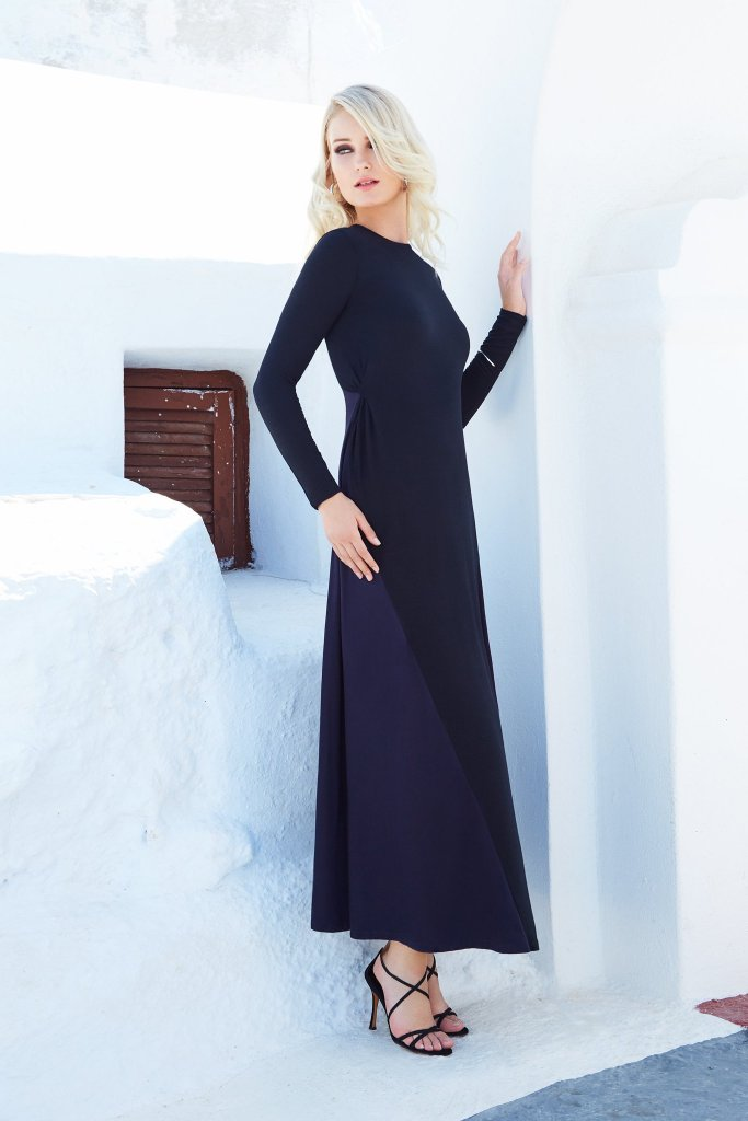 Colorblock Maxi-Black and Blue