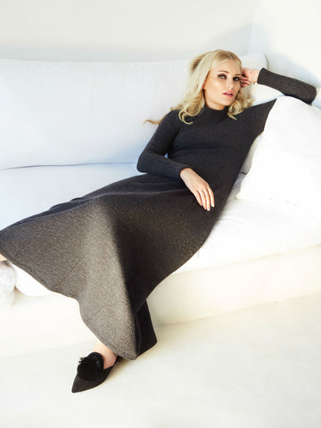 Sweater Maxi With High Neck