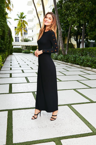 Button Sleeve Maxi