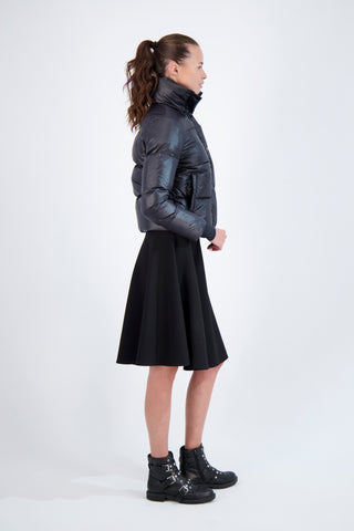 DOWN COAT WITH HIGH NECK-BLACK