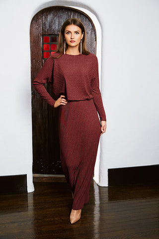 Batwing Rib Maxi - Red Wine