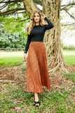 PLEATED MAXI SKIRT-SPOTTED