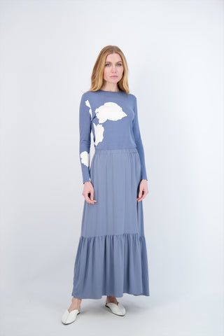 PRAIRIE MAXI SKIRT- TURKISH BLUE