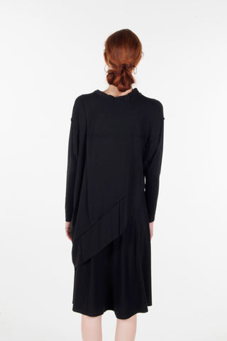 PONCHO TOP- BLACK