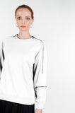 ZIPPER SWEATSHIRT- WHITE