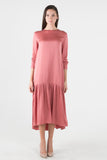Silky Prairie Maxi Dress- Rose