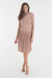 Turtleneck Lurex Set - Pink