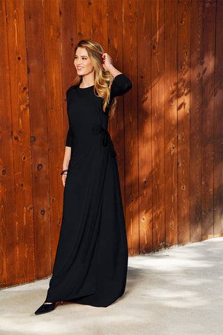 WRAP MAXI JUMPER-BLACK