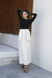 PIPING POCKET MAXI SKIRT